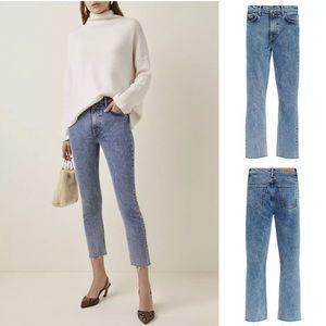 DROPPED💖GRLFRND Reed High-Rise Slim-Leg Jeans